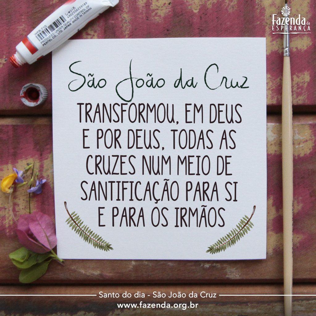 Santo Do Dia São João Da Cruz Fazenda Da Esperança